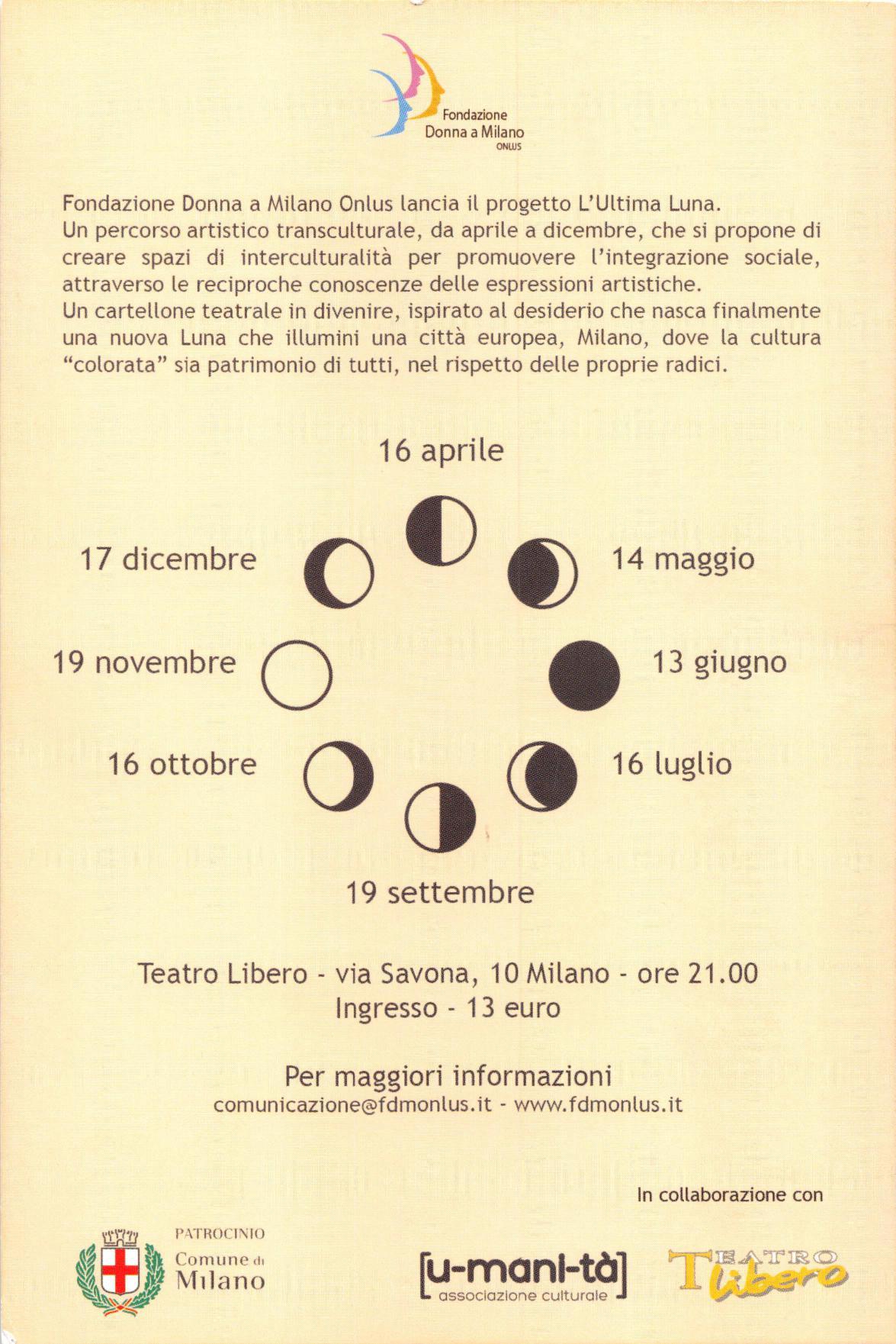 "Calendario ""L'Ultima Luna"""