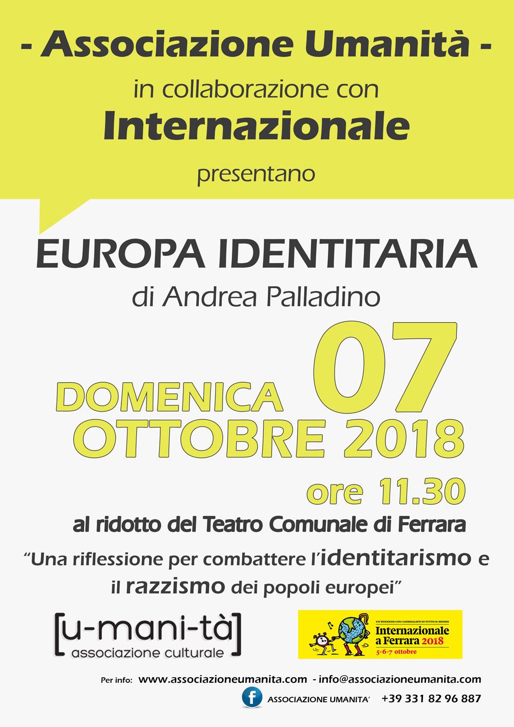 Evento Europa Identitaria di Andrea Palladino