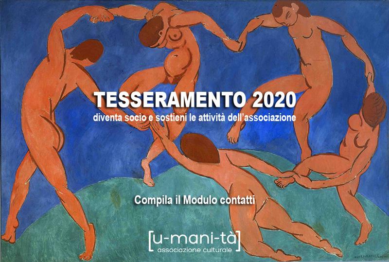tesseramento umanità 2020